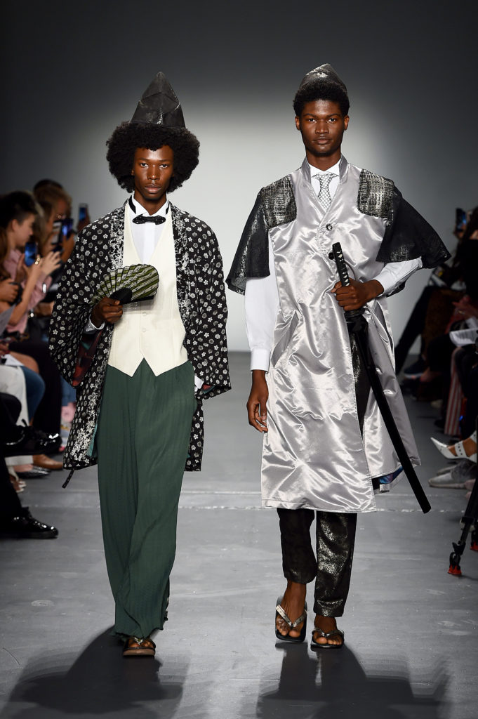 "FORTUNA Tokyo NYFW SEPTEMBER 2019 ""SAMURAI HISTORY"" 2020 SS Collection look7-8."