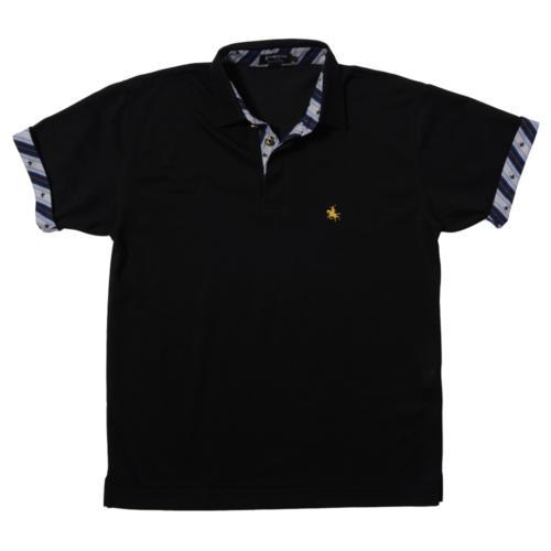 19. MASAMUNE 政宗(ブラック)ポロシャツ 半袖