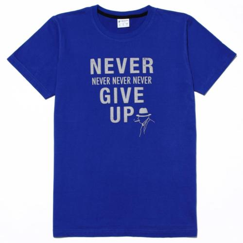 Antivirus/antibacterial Unisex T Shirt - NEVER GIVE UP